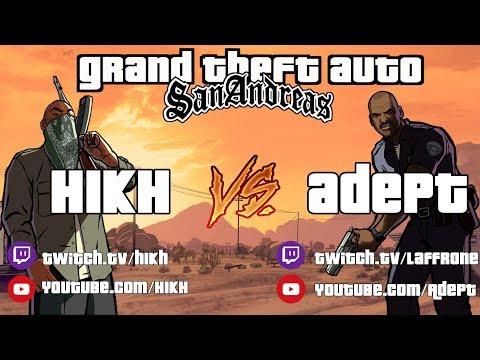 СПИДРАН ГОНКА GTA SAN ANDREAS NMG [H1kH vs Adept]