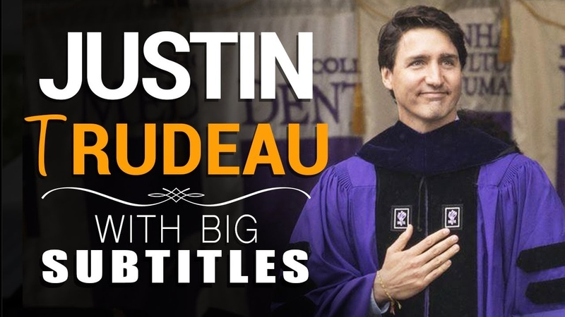 Learn English Justin Trudeau Diversity doesn t have to be a weakness! with BIG subtitles