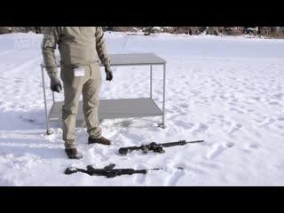 АК-12 (Россия) и M4 (США/NATO) на лёгком морозе (-6)