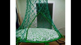 Гамак, палатка, подвесное кресло - качели своими руками, плетем вместе в технике макраме