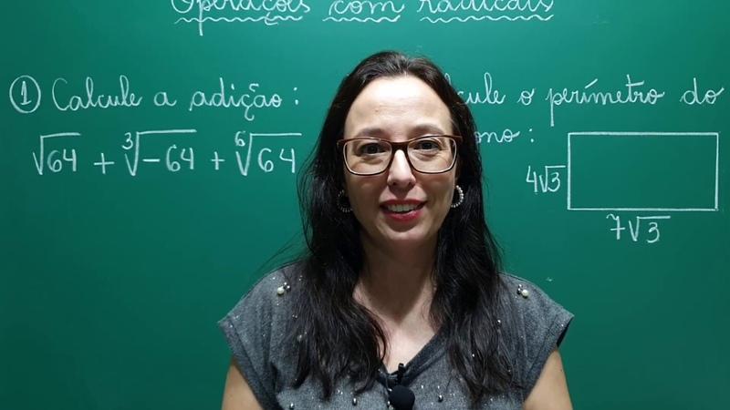 Operações com Radicais Adição Revisão Matemática Básica ENEM e CONCURSOS Professora Angela