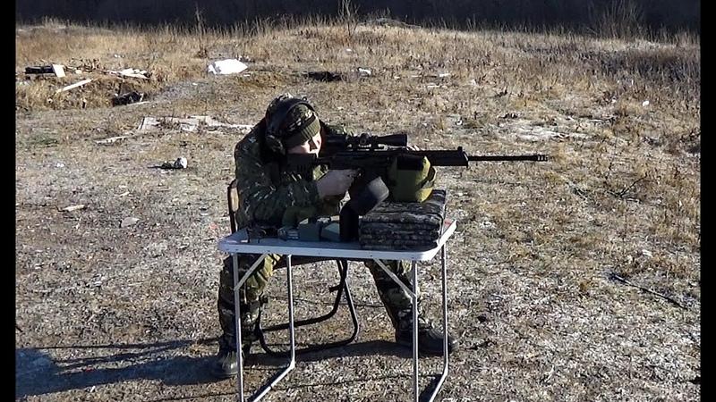 ВПО 221 Ланкастер,пристрелка прицела 100м