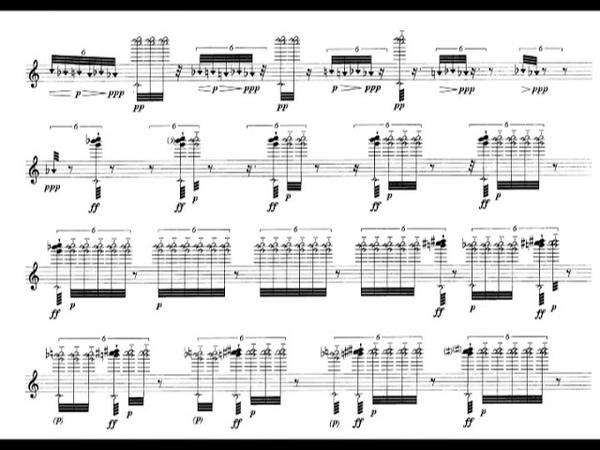 Salvatore Sciarrino Morte Tamburo for Flute 1999 Score Video