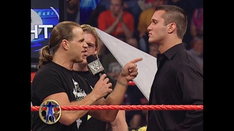 Chris Jericho Randy Orton Shawn Michaels Kevin Nash Segment Brawl Fight Raw July 28 2003