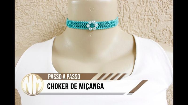 NM Bijoux - Choker de Miçanga com flor de Pérola