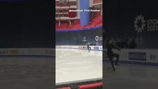 Морис Квителашвили / Moris Kvitelashvili - Чемпионат мира 2021, Тренировка, 4S+3T