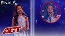 INCREDIBLE Child Opera Singer Emanne Beasha STUNS With La Mamma Morta - America's Got Talent 2019