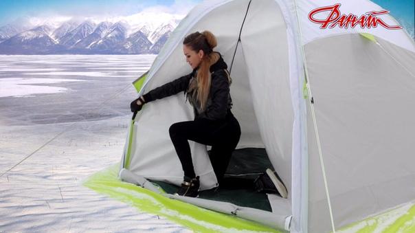 Как сложить зимних палаток