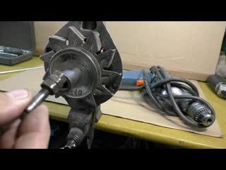 Как удалить выработку на кольцах ротора генератора