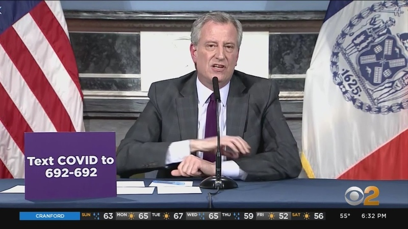 De Blasio Medical Supplies Could Last Through Tuesday
