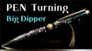 Pen turning Big Dipper ballpoint pen in the night sky