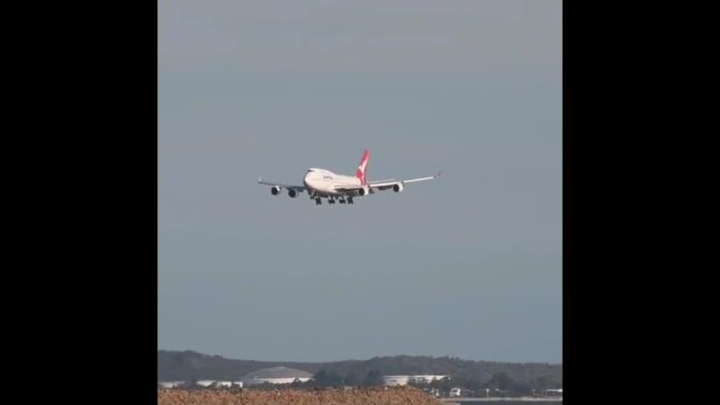 Последний пассажирский рейс Boeing 747 438ER авиакомпании Qantas 🇦🇺 Прибытие в Сидней SYD из Сантьяго SCL