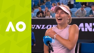 """Daria Gavrilova: """"I didn't think so many people would come watch me!"""" (1R) on-court interview 