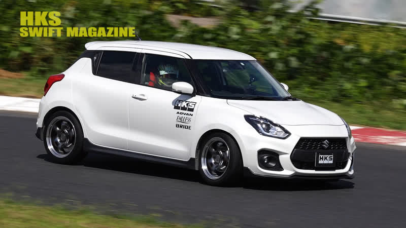 SWIFT MAGAZINE DVD — Demo Car Test Drive at Honjo Circuit HKS Swift.