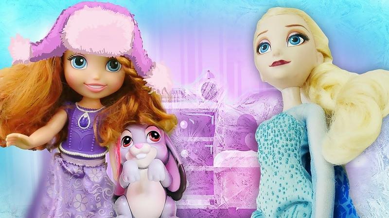 Kız oyunu. Prenses Sofia Karlar Ülkesinde Elsayı ziyaret ediyor!