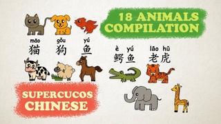 Learn Chinese - 18 Animals Compilation Aprender Chino - Recopilacin de 18 animales