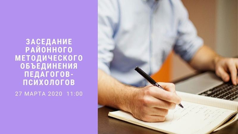 Заседание районного МО педагогов психологов Красносельского района СПб 27 03 2020
