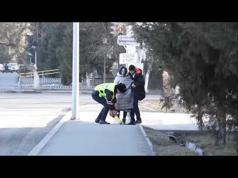 Талдықорғанда полицей 80 жастағы әйелге дер кезінде көмек көрсетті