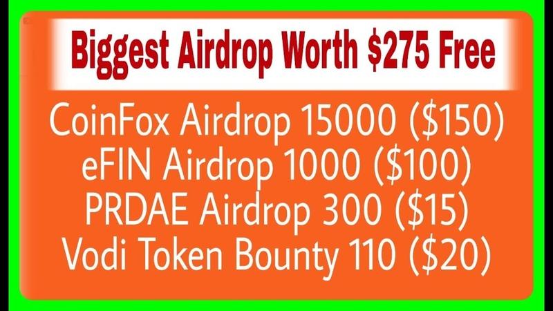 CoinFox Airdrop 15000 ($150) | eFIN 1000 ($100) | ECHT 300 ($15) | VDX 110 ($20), RCV Technical