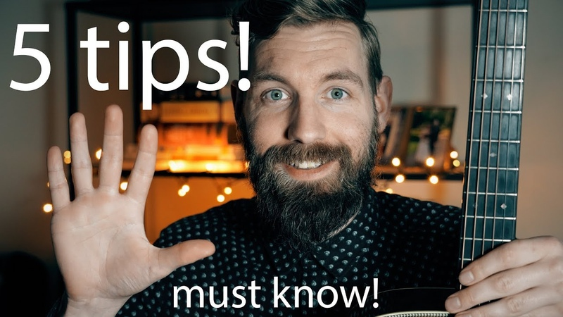 5 MUST KNOW tips for your acoustic playing