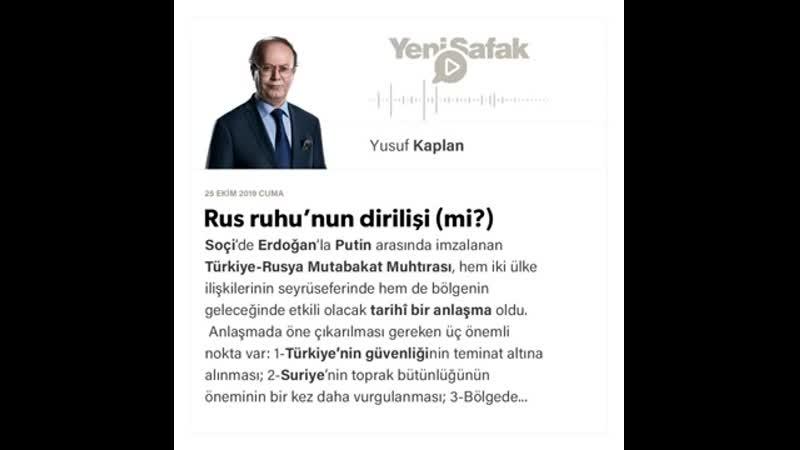 016 Yusuf Kaplan Rus ruhu'nun dirilişi mi