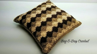 How To Crochet - Pillow | Vintage Harlequin Throw Pillow | BAG O DAY Crochet Tutorial #453