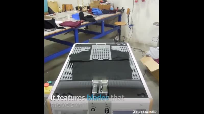 This speedy machine folds shirts in no time