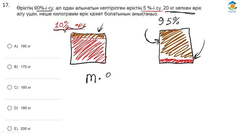 ҰБТ Математикасы Концентрация есебін оп оңай шығару