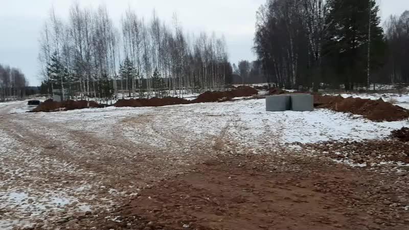 Строительство якутского военно патриотического поиского лагеря идёт возле дер Кокошкино Ржевского района