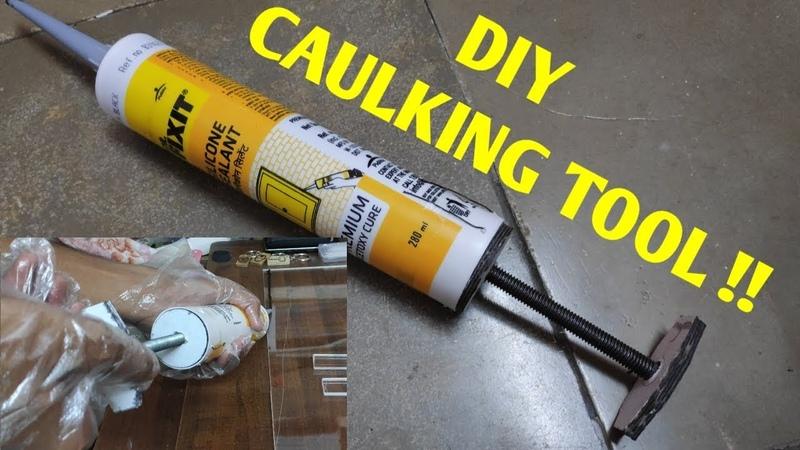 How to use silicone sealant without caulking gun DIY caulking tool