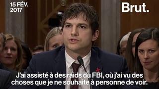 Le discours d'Ashton Kutcher contre le trafic sexuel des enfants
