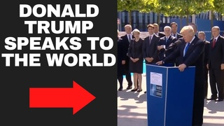 Donald Trump speaks to the world