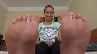 UNDER GIRLS FEET - Russian pov humiliation (#1)