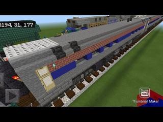 Minecraft Amfleet coach to diner car conversion tutorial