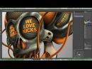 We Love Kicks - Photoshop Making of - Skull 02