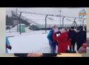 Лыжные соревнования и трек день на гоночном треке Moscow Raceway.