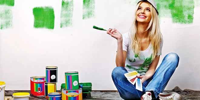 Покраска стен - виды красок