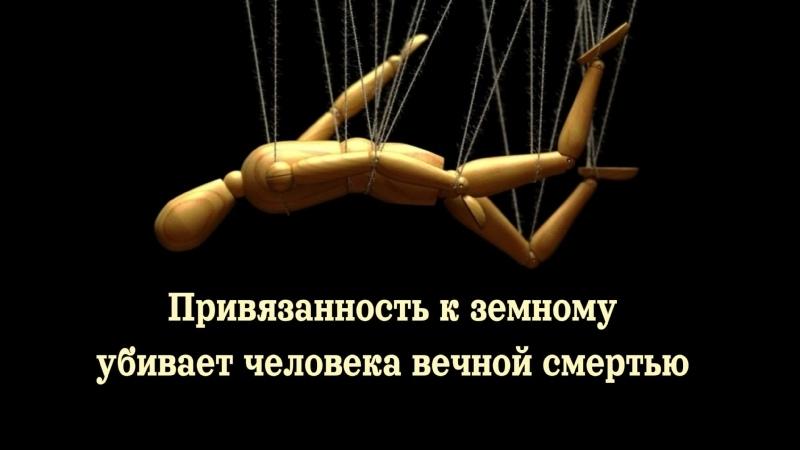 Привязанность к земному убивает человека вечной смертью