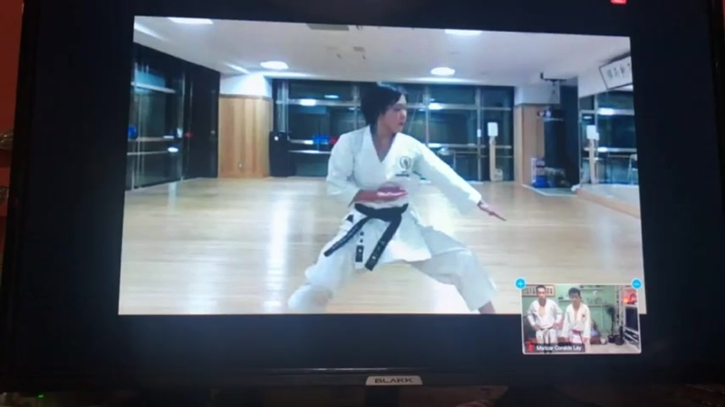 каратэ сётокан тренировка ката Канку Шо сэнсэя Саори Окамото 4 Дан JKS из Японии 11 09 20