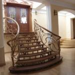 Кованая лестница КЛ12