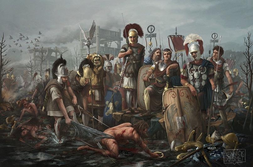 Современная картина на тему «римляне режут нарвиев»
