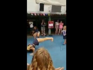[#My1] Лэйси Эванс и дочка в конкурсе танцев