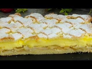 Особенный яблочный пирог с ванильным пудингом(Ингредиенты под видео)| Больше рецептов в группе Кулинарные Рецепты