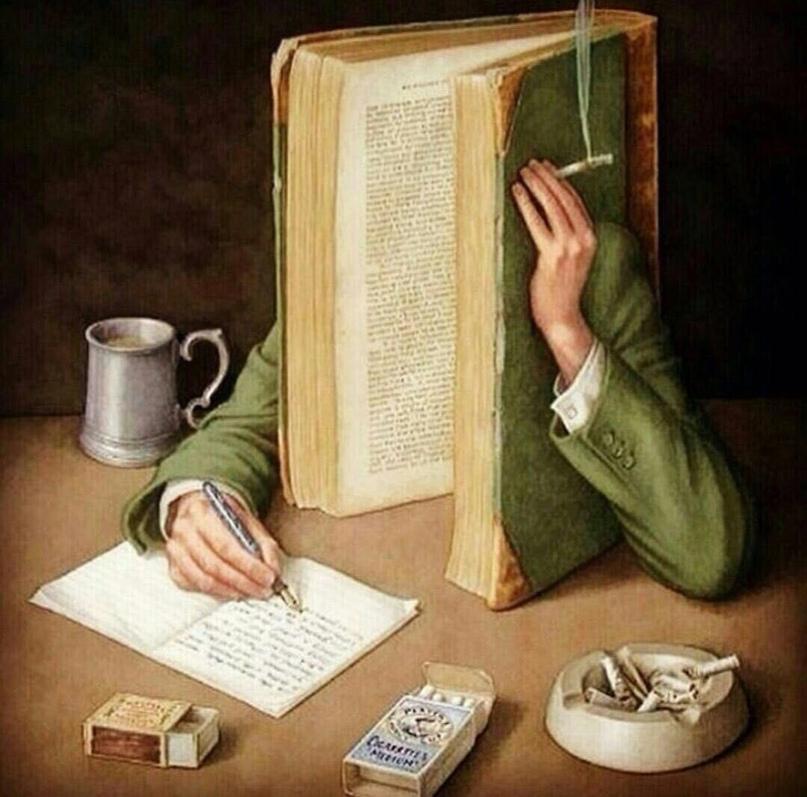 Книга пишет тексты, творчески перерабатывая собственное содержание