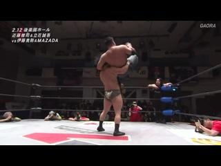 MAZADA & Takanori Ito vs. Seigo Tachibana & Shuji Kondo