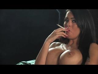 Charley Atwell smoking ( erotic эротика fetish фетиш playboy model модель milf big boobs pussy )