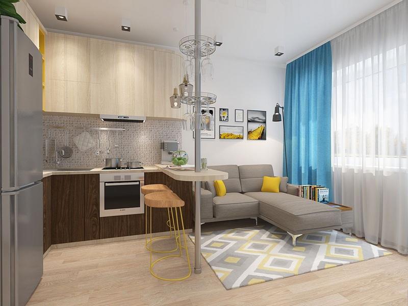 Проект маленькой квартиры-студии почти 19 м от ставропольского застройщика СК Третий Рим.