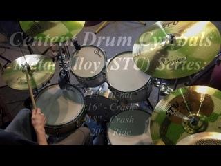 Centent Drum Cymbals STU Series (2xCrash, Hi-hat, Ride) played on Amati Drums