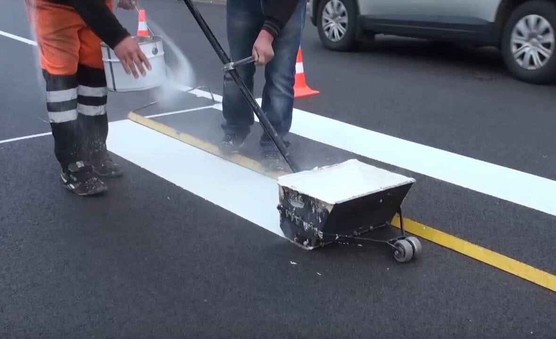 Дорожную разметку на курских дорогах подрядчики восстановят по гарантии