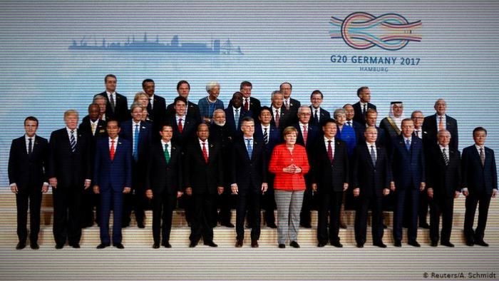 Члены G20 в 2017 г.